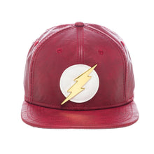 Load image into Gallery viewer, Bioworld Licensed DC COMICS - Flash Metal Bolt PU Leather Snapback Hat