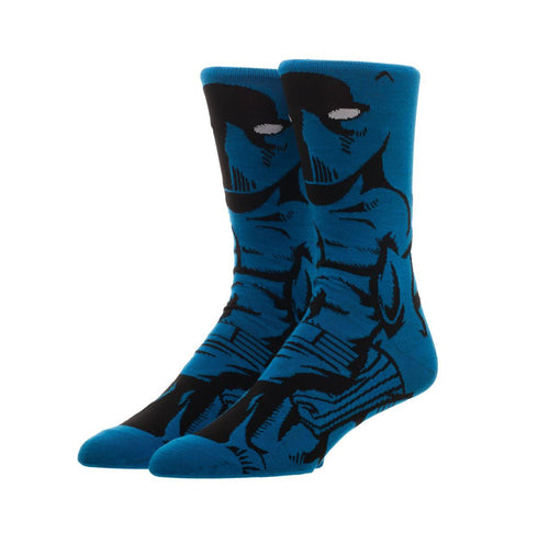 Bioworld Licensed Black Panther 360 Character Black/Blue Socks