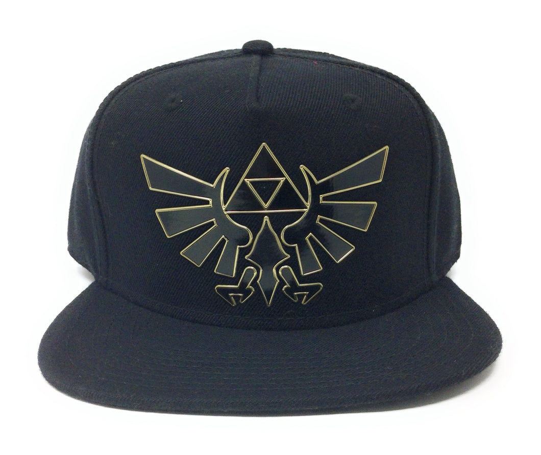 Bioworld Licensed The Legend Of Zelda - Link - Rubber Sonic Weld - Gold/Black Snapback Hat