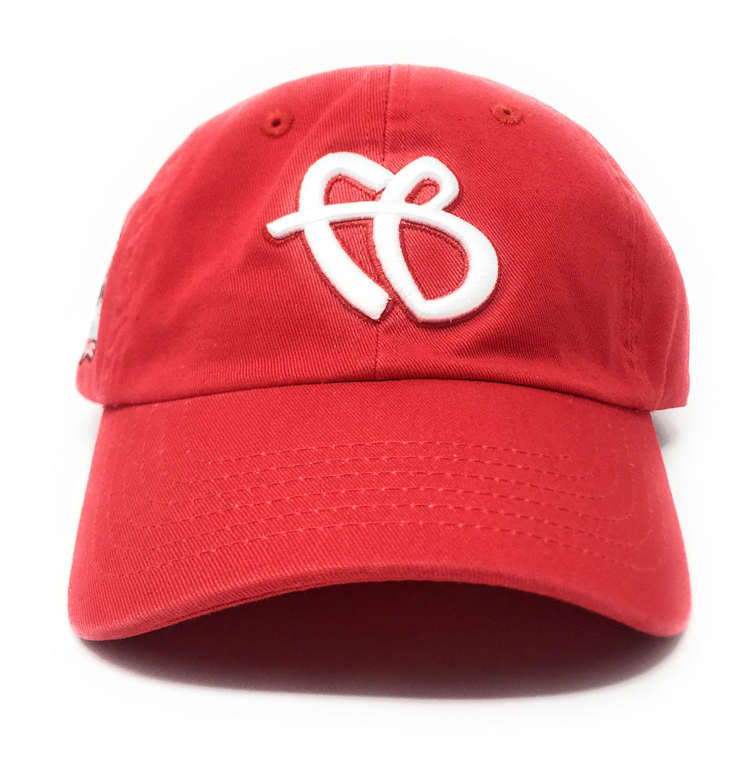 "FUBU ""FB"" Logo 25th Anniversary Dad Red Snapback Hat"