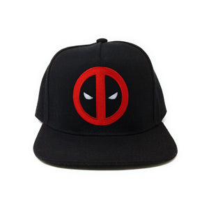 Deadpool Logo - Flat Embroidery - Red/Black Snapback Hat