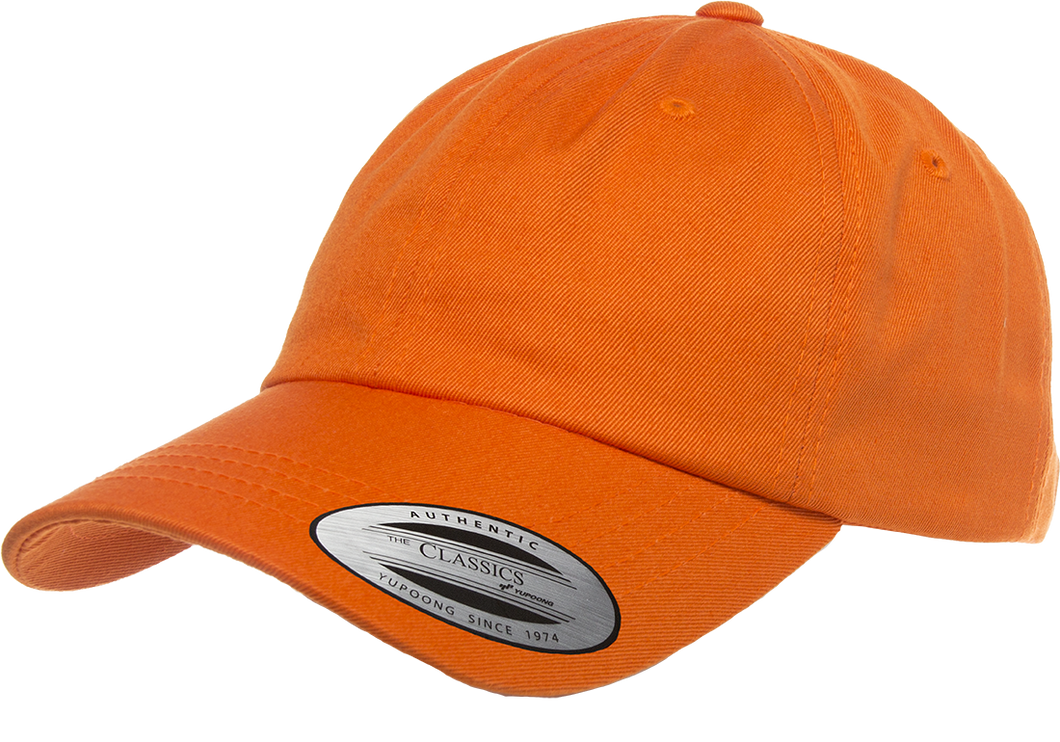 Flexfit 6245CM Orange Low Profile Cotton Twill Dad Hat