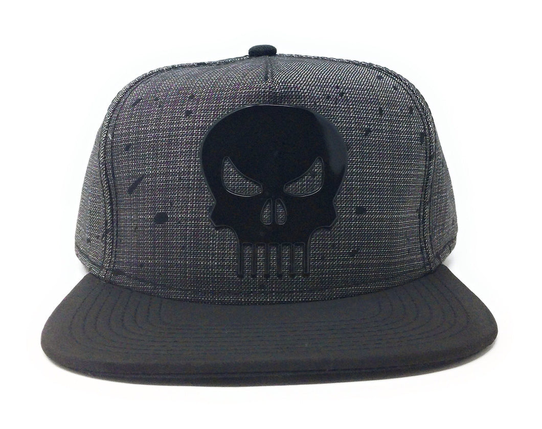 Bioworld Licensed Punisher - Marvel Knights - Splatter Black/Grey Snapback Hat
