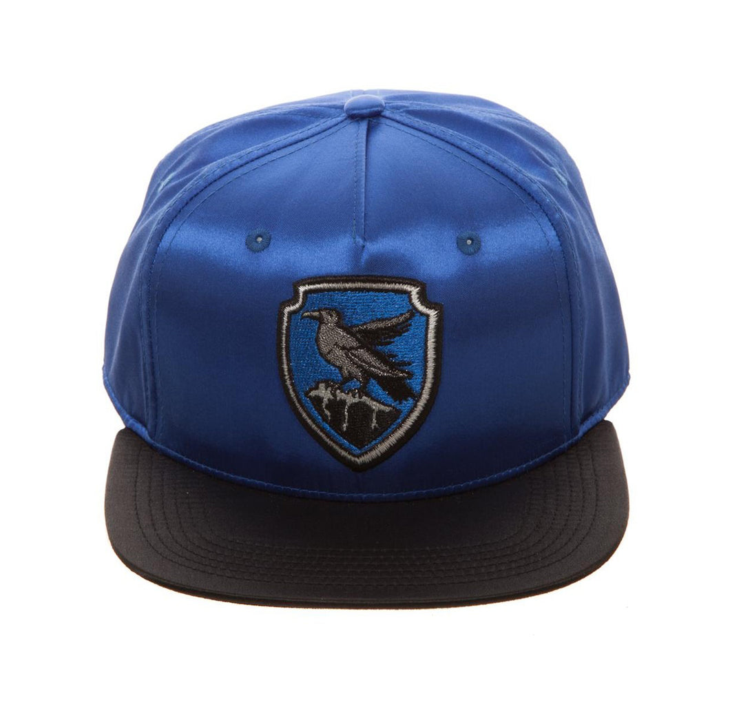 Bioworld Licensed Harry Potter - Ravenclaw - Satin Metallic Embroidery Blue/Black Snapback Hat