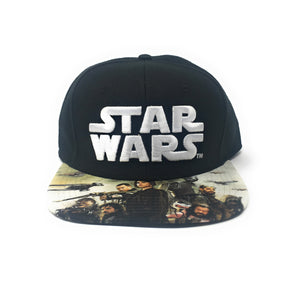 Bioworld Licensed Star Wars - Rogue One - Sublimated Brim Black Snapback Hat