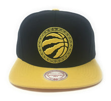 Load image into Gallery viewer, Mitchell And Ness Toronto Raptors Chinese New Year - Chinawear Two-Tone Black/Gold Snapback Hat