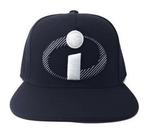 Incredibles - 3D & Flat Woven Label Emblem Felt Appliqué White/Black Snapback