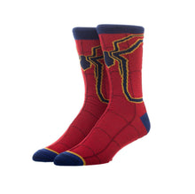 Load image into Gallery viewer, Bioworld Licensed Spider-Man Iron Spider Casual Red/Blue Socks