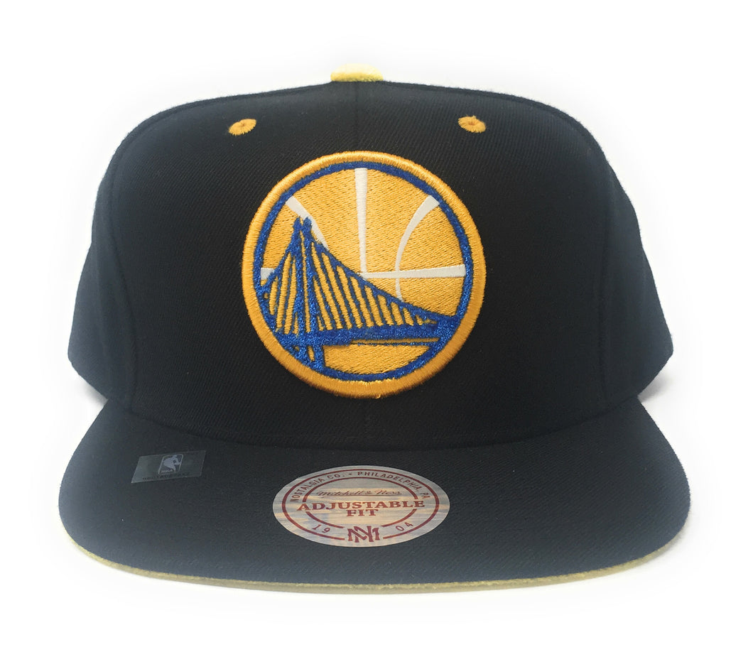 Mitchell And Ness Golden State Warriors Velour Snapback Hat