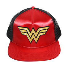 Load image into Gallery viewer, Bioworld Red Licensed Wonder Woman Logo Trucker Hat