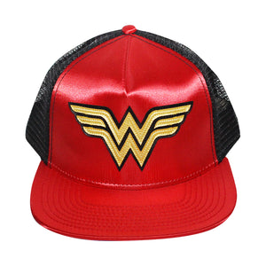 Bioworld Red Licensed Wonder Woman Logo Trucker Hat