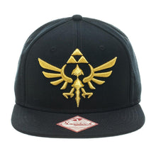 Load image into Gallery viewer, Bioworld Licensed Nintendo Legend Of Zelda Logo Snapback Hat