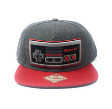 Load image into Gallery viewer, Bioworld Licensed Nintendo Controller Grey/Red Snapback Hat
