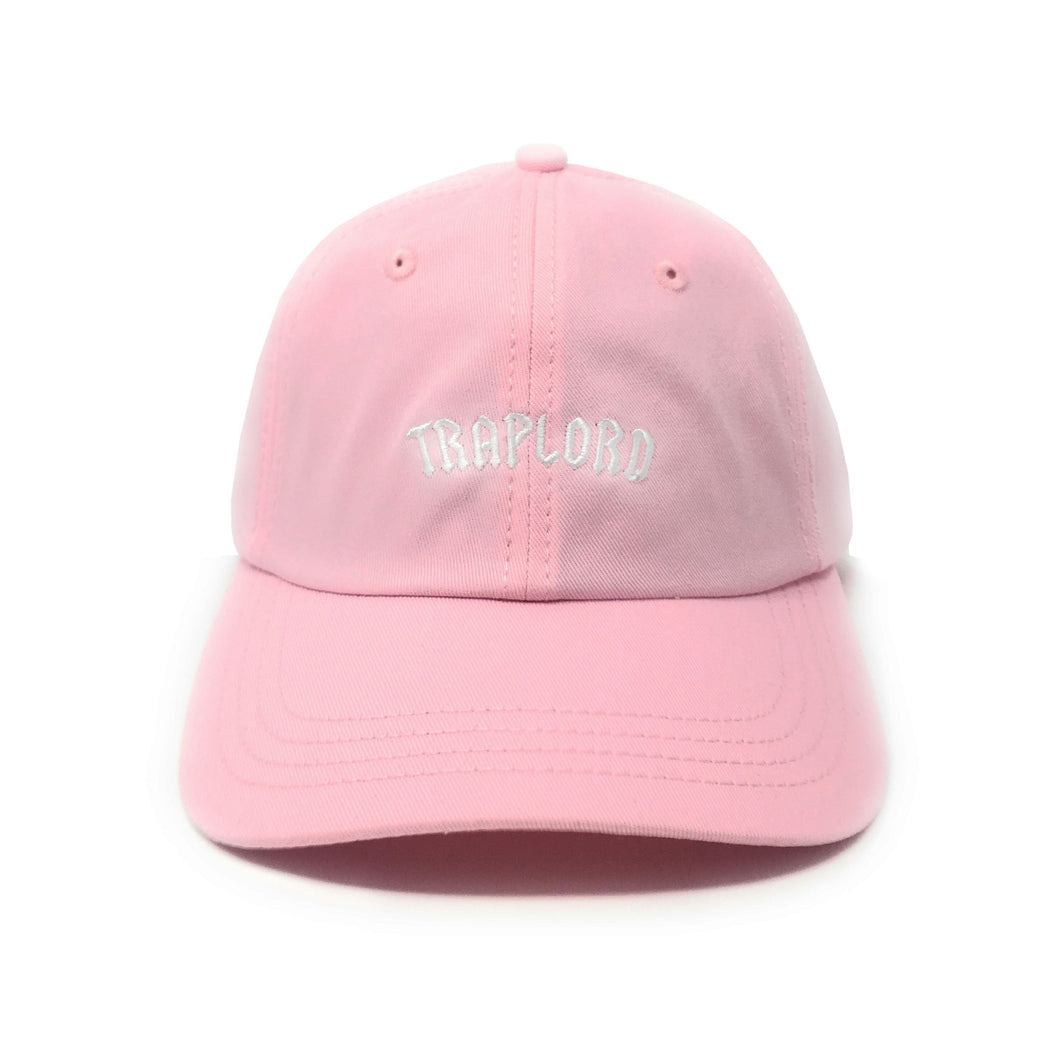 Trap Lord Core Logo Pink Unstructured Strapback Dad Hat