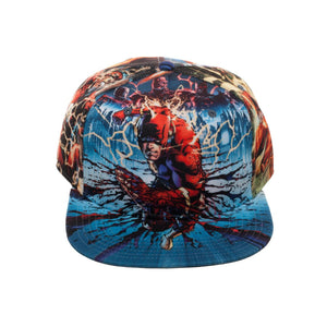 Bioworld Licensed The Flash Allover Sublimated Blue Snapback Hat