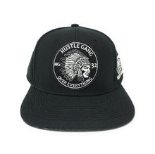 Load image into Gallery viewer, Hustle Gang - World Wide - Black Snapback Hat