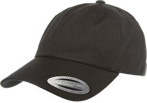 Flexfit 6245CM Black Low Profile Cotton Twill Dad Hat