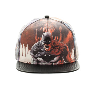 Bioworld Licensed Batman Allover PU Leather Black Snapback Hat