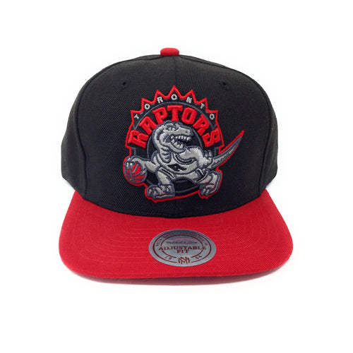 Mitchell and Ness Toronto Raptors Retro Logo Red/Black Snapback Hat