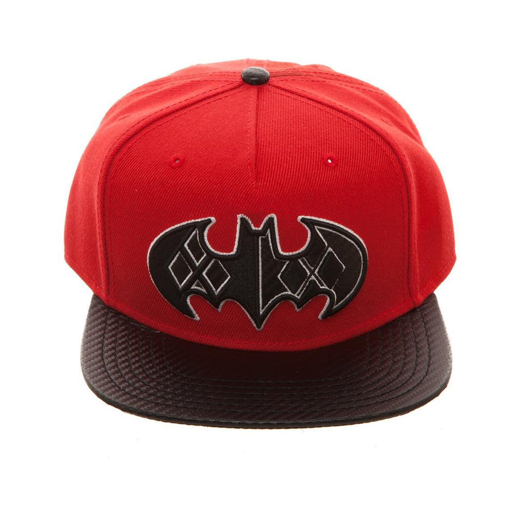 Bioworld Licensed Harley Quinn - Carbon Fiber Red/Black Snapback Hat