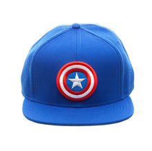Load image into Gallery viewer, Bioworld Licensed Captain America Core Line Logo Blue Snapback Hat