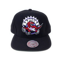 Load image into Gallery viewer, Mitchell and Ness Toronto Raptors Retro Logo Red/Purple/Black Snapback Hat