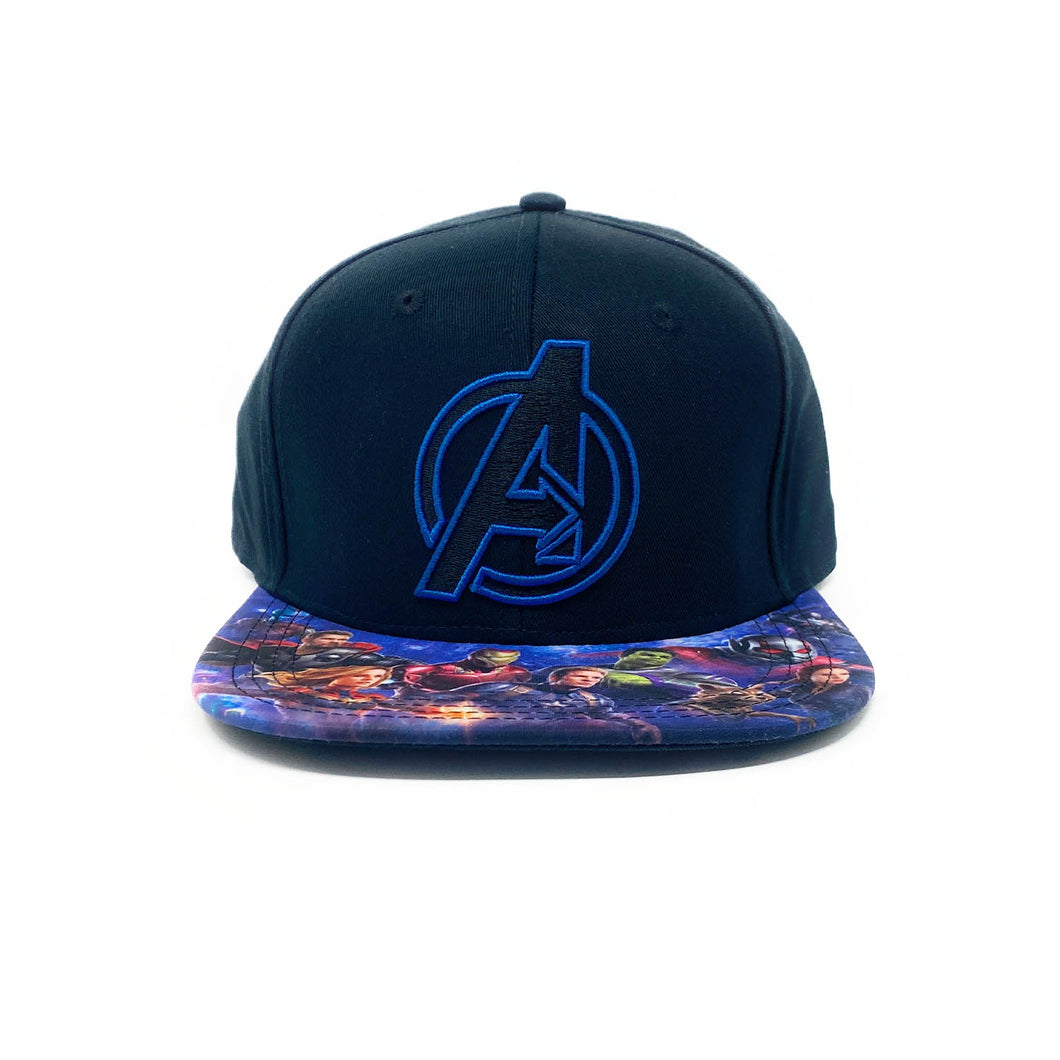 Marvel Avengers - Flat Embroidery - Blue/Black - Sublimated Brim Snapback Cap