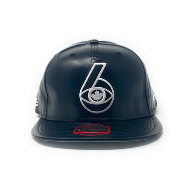 6 Visions - The Cap Guys TCG / Inspired Exclusives PU Black/White Snapback Cap
