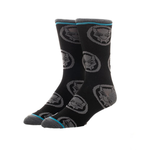 Bioworld Licensed Black Panther Movie Logo Crew Black Socks
