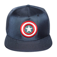 Load image into Gallery viewer, Bioworld Blue Licensed Captain America Shield Logo Snapback Hat