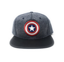 Load image into Gallery viewer, Bioworld Licensed Captain America - Marvel Comics - PU Blue/White Star Snapback Hat