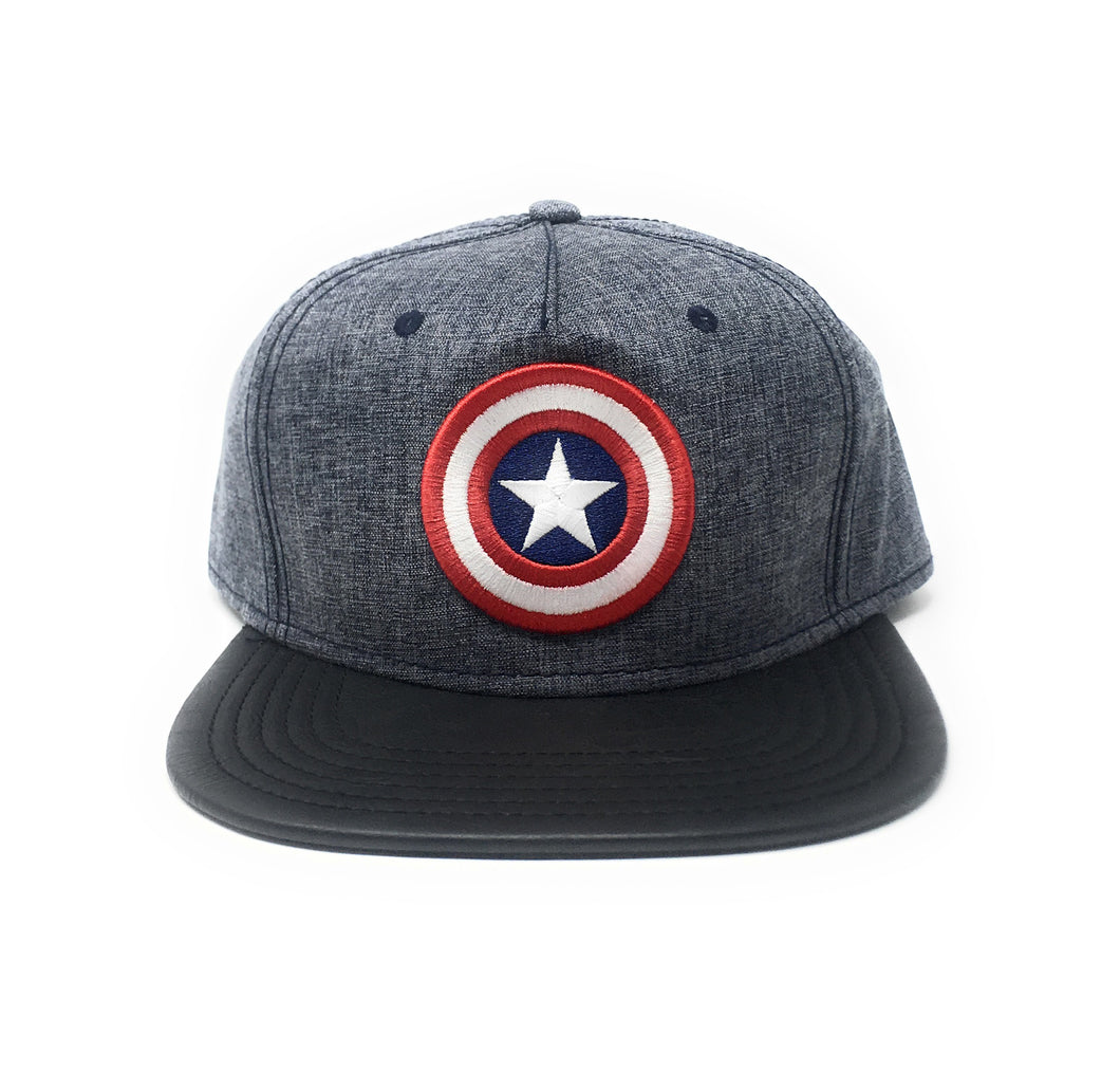 Bioworld Licensed Captain America - Marvel Comics - PU Blue/White Star Snapback Hat