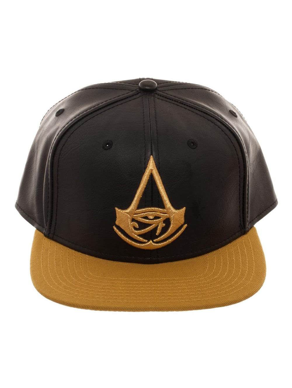 Bioworld Licensed Assassins Creed - Origins - Chrome Weld PU Black/Gold Snapback Hat
