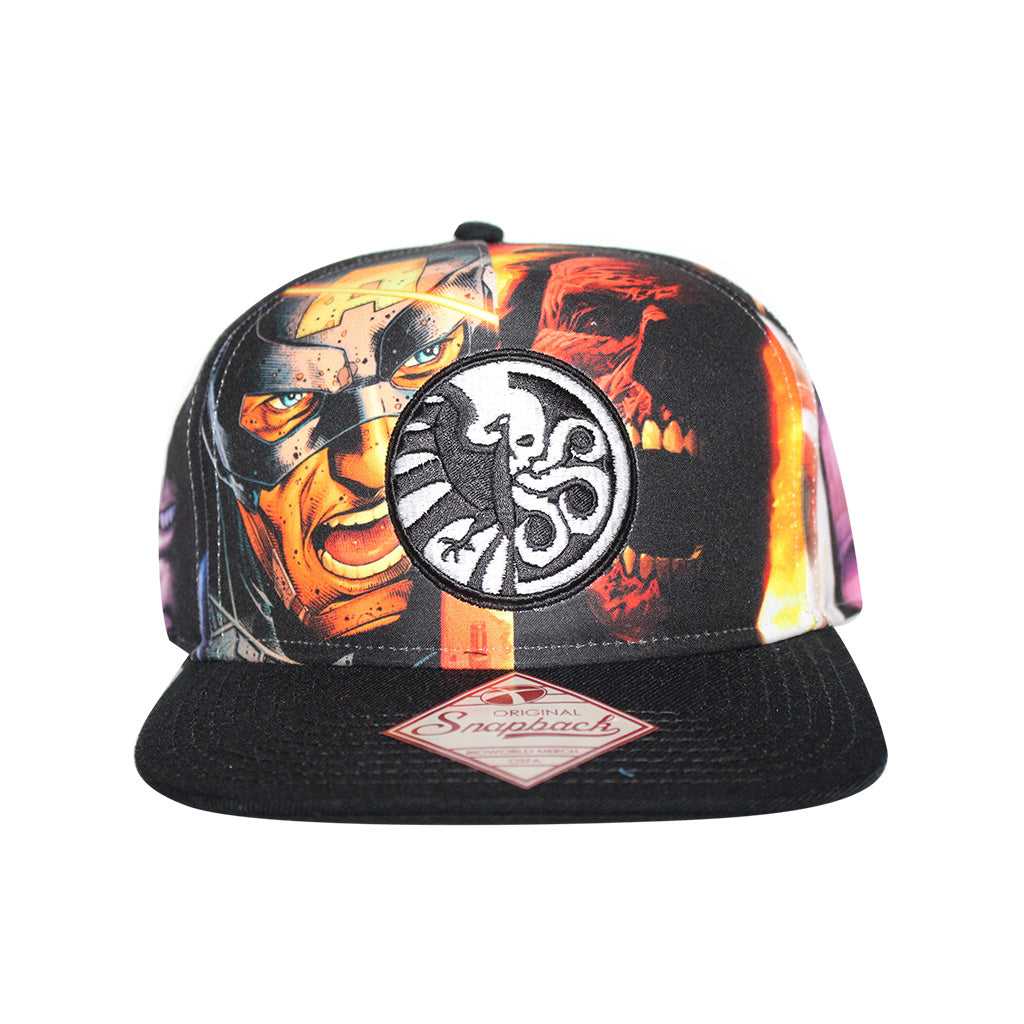Bioworld Licensed Shield and Hydra Logo Sublimated Print Snapback Hat