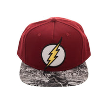 Load image into Gallery viewer, Bioworld Flash Sublimated Brim Red/White Snapback Hat