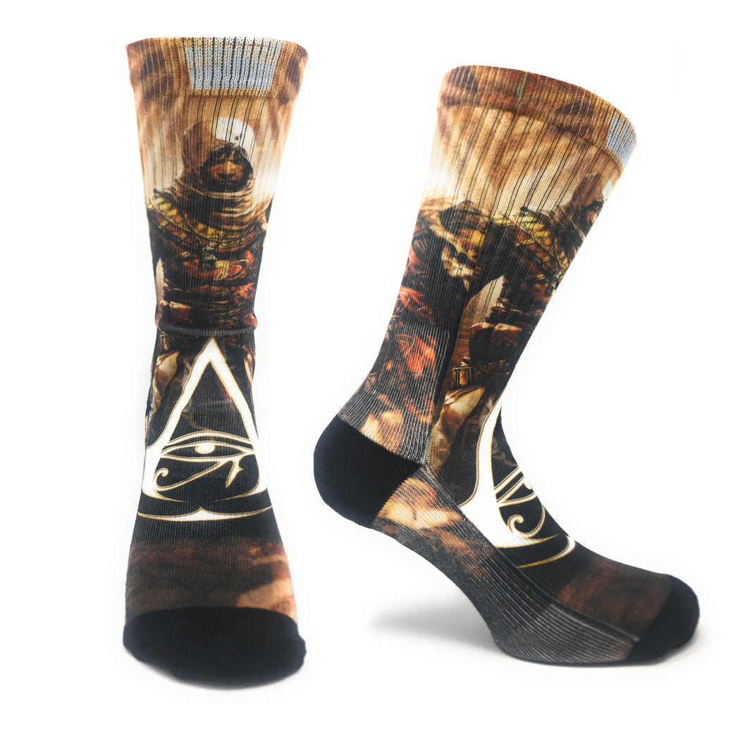 Bioworld Licensed Assassin's Creed - Origins - Black - Sublimated Socks - One Size