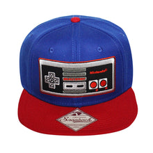 Load image into Gallery viewer, Bioworld Red/Blue Licensed Nintendo Controller Snapback Hat