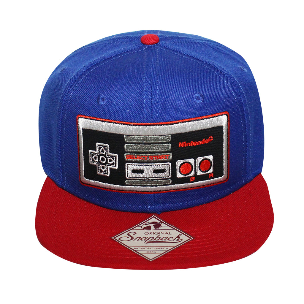 Bioworld Red/Blue Licensed Nintendo Controller Snapback Hat