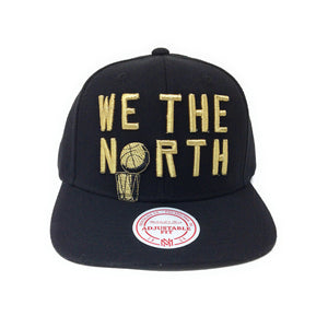 Mitchell and Ness Toronto Raptors We The North - 2019 Champions - Black/Gold Snapback Hat