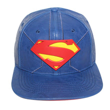 Load image into Gallery viewer, Bioworld Blue Licensed Superman PU Leather Snapback Hat