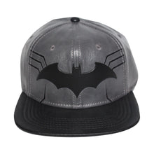 Load image into Gallery viewer, Bioworld Black Licensed Batman PU Leather Suit Up Snapback Hat