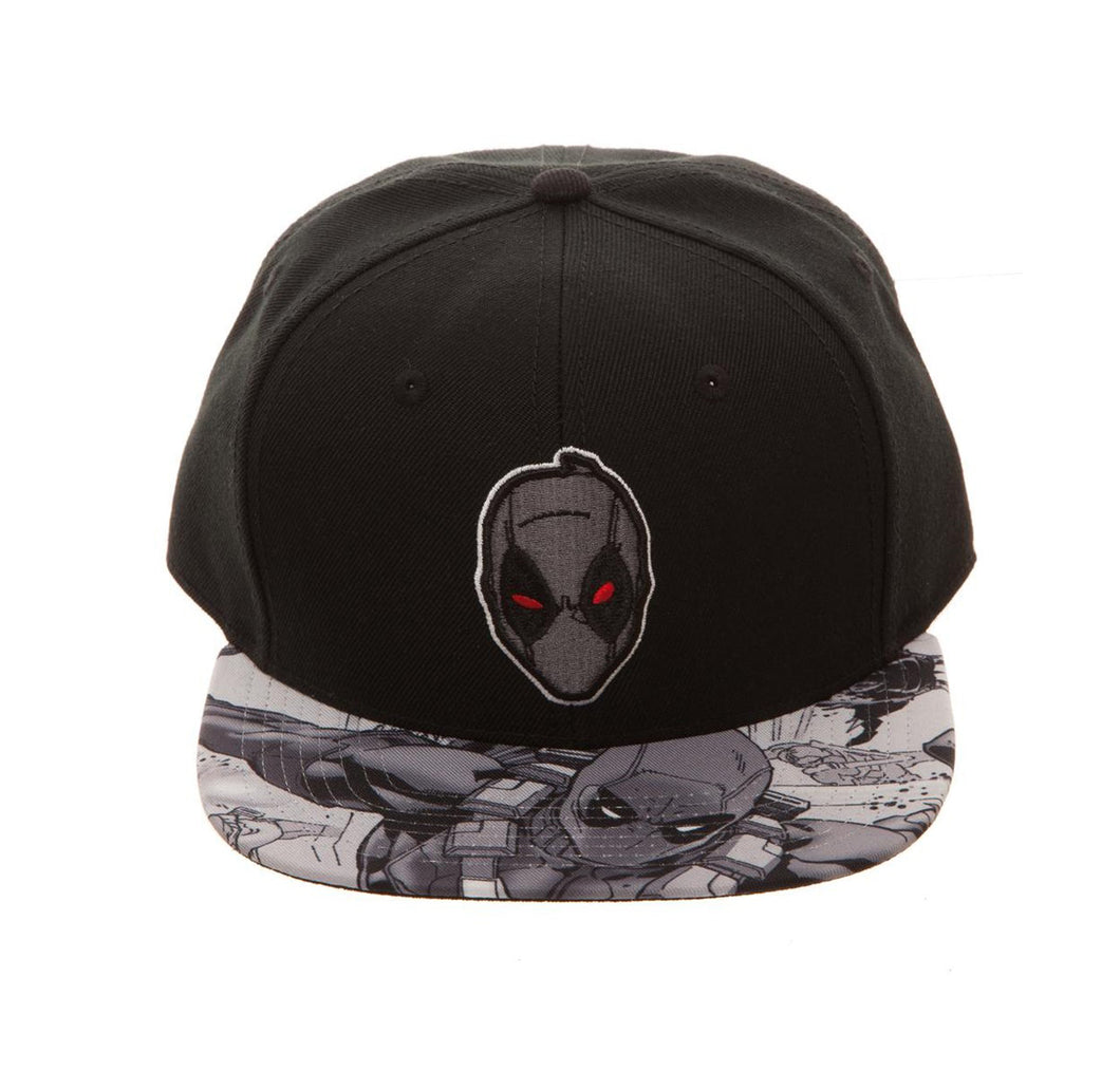 Bioworld Licensed Deadpool - Marvel Comics - X-Force Sublimated Brim Black Snapback Hat