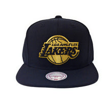 Load image into Gallery viewer, Mitchell and Ness Los Angeles Lakers Logo Gold/Black Snapback Hat