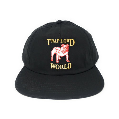 Trap Lord Bulldog Black Unstructured Snapback Hat