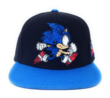 Load image into Gallery viewer, Sonic The Hedgehog - Brush Strokes On Washed Canvas Blue/Black Snapback