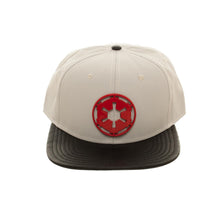 Load image into Gallery viewer, Bioworld Licensed Star Wars Galactic Empire Hoth At-At Driver Metal Badge Logo Grey/Black Snapback Hat