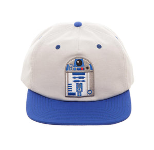 Bioworld Licensed Star Wars - R2D2 Oxford Slouch Grey/Blue Snapback Hat