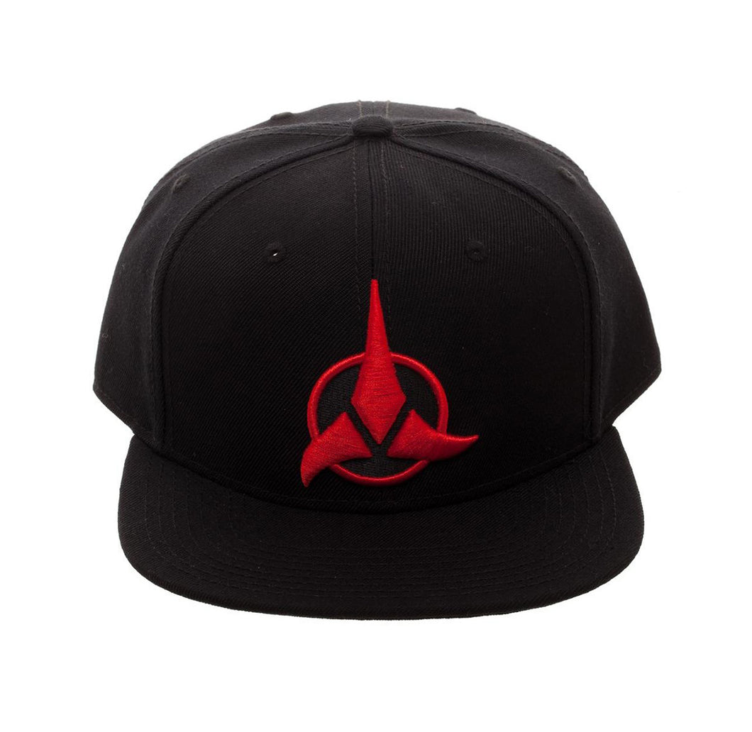 Bioworld Licensed Star Trek - Klingon - Acrylic Black Snapback Hat