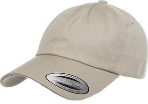 Flexfit 6245CM Khaki Low Profile Cotton Twill Dad Hat