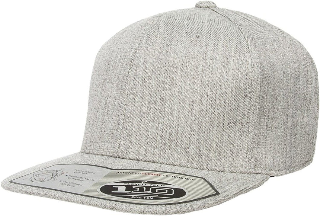 Flexfit 110F Heather Grey One Ten Snapback
